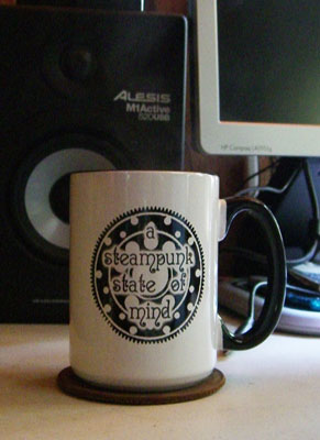 Steampunk state of mind mug