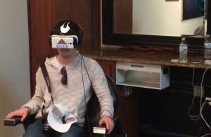 Virtual reality demo at #SXSW